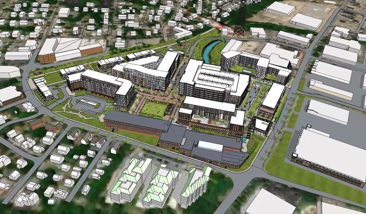 Schematic of Newton Upper Falls Development
