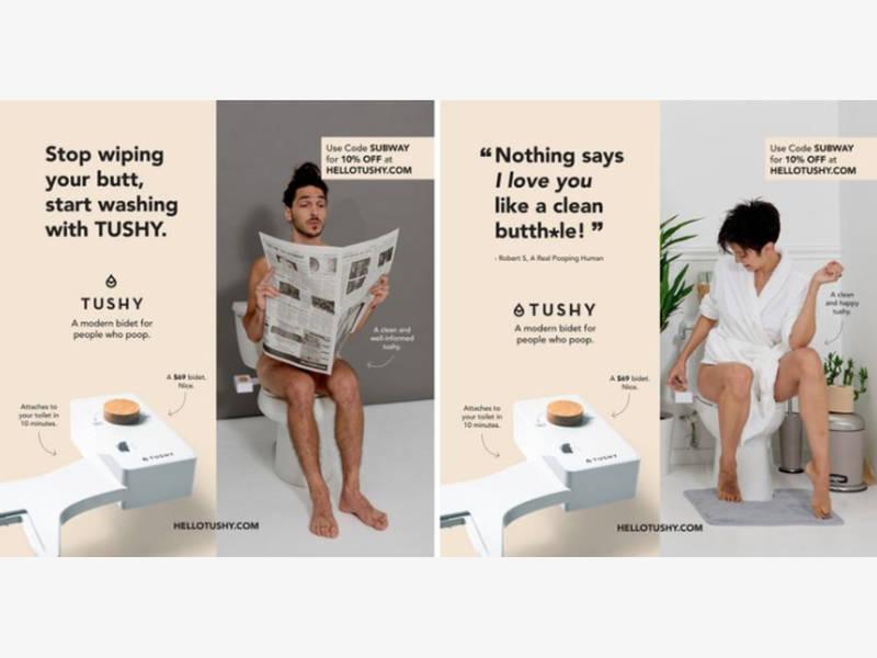 Snl Mocks Mta For Flushing Cheeky Bidet Ads From Subway Brooklyn