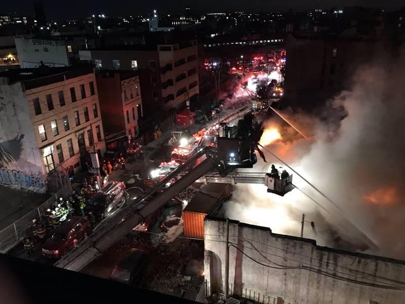 Firefighters Battle 5 Alarm Fire In Bed Stuy Fdny Says