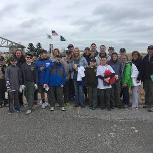 Boy Scout Troop 399 at the Town of Babylon 9/11 Memorial Spring Cleanup