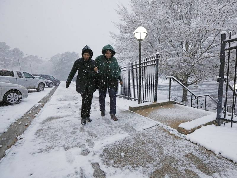 New Orleans Gets Rare Snow Flurries Across Louisiana La