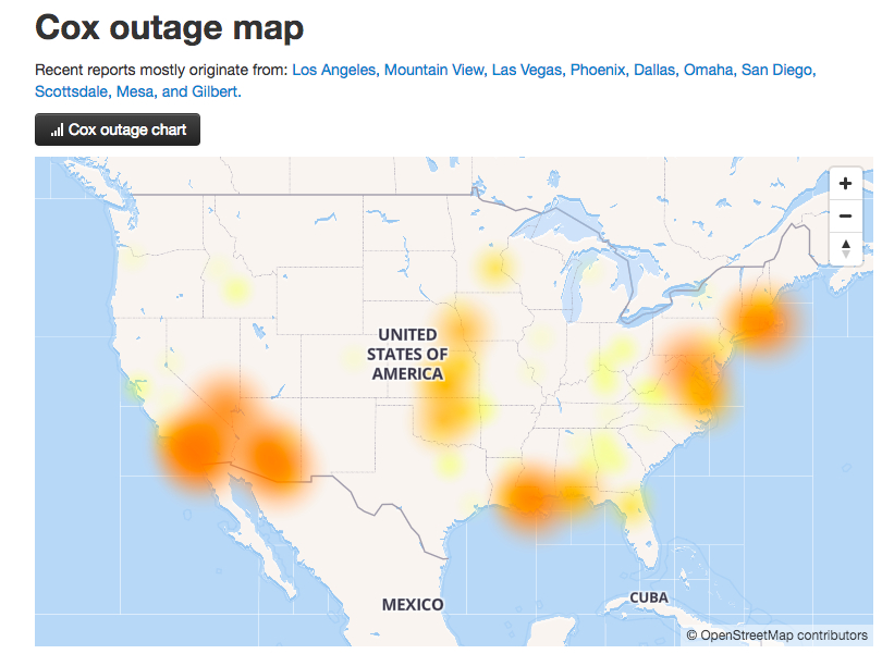 Cox Communications There Was No Widespread Cable Outage