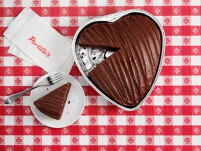 Portillo S Heart Shaped Chocolate Cake