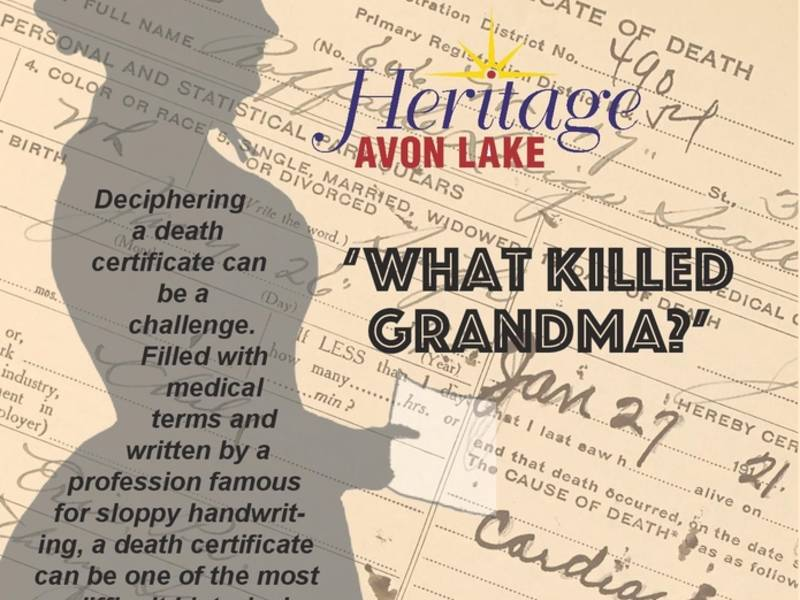 Upcoming Heritage Avon Lake Talk Features Old Certificates