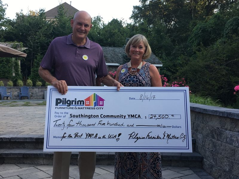 Pilgrim Furniture And Mattress City Donate To Southington Community Ymca Southington Ct Patch