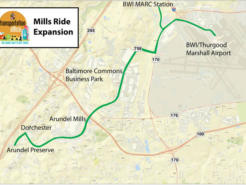 Bus Routes Added For South County Arundel Mills Areas Edgewater