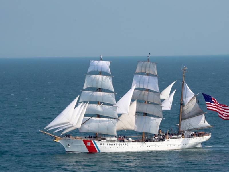 Coast Guard Tall Ship Eagle Returns To Baltimore