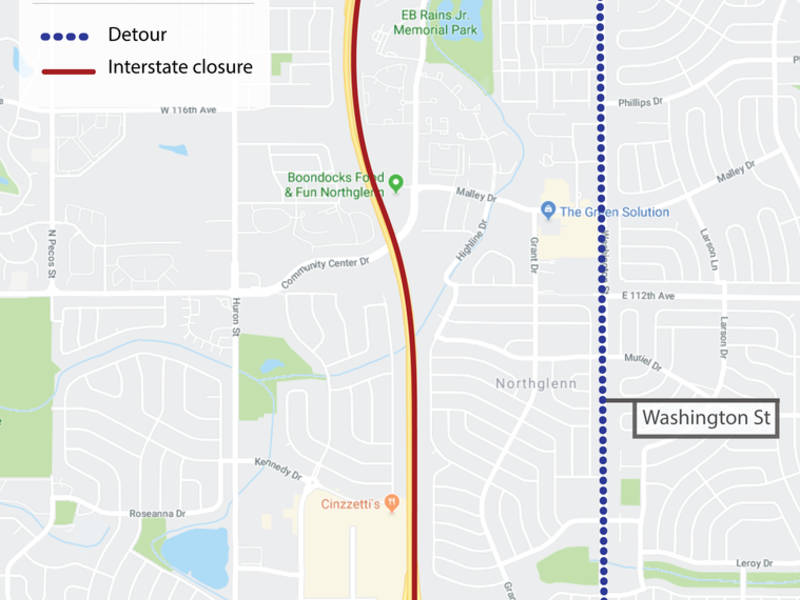 Emergency Repairs Will Close Parts Of I 25 Overnight Cdot Across