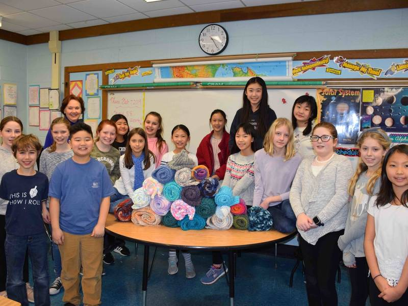 Knitting Up Donations at Nassakeag