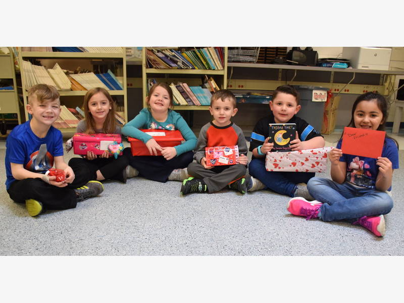 Students put their hearts into Valentine Box project