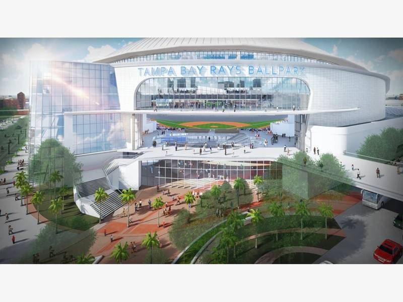 Rays Reveal Design Of Proposed Ybor City Ballpark   Tampa ...