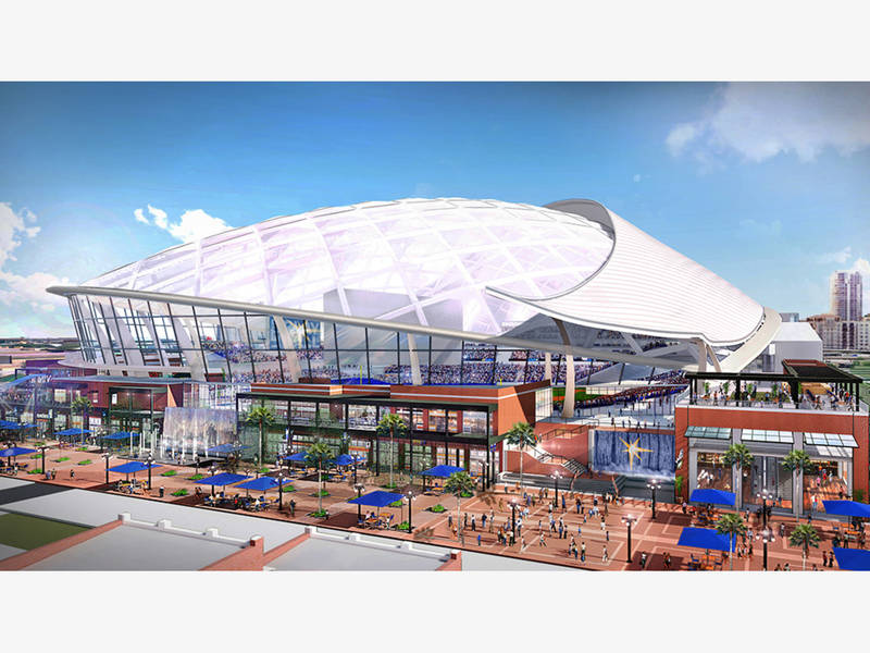 Rays Reveal Design Of Proposed Ybor City Ballpark | Tampa ...