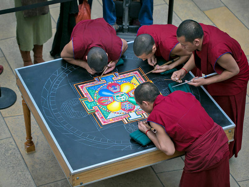 Tibetan Buddhist Monks Will be Artists-in-Residence at GUS