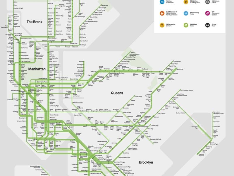This Map Reimagines Nyc Parks As Subway Stops New York City Ny Patch