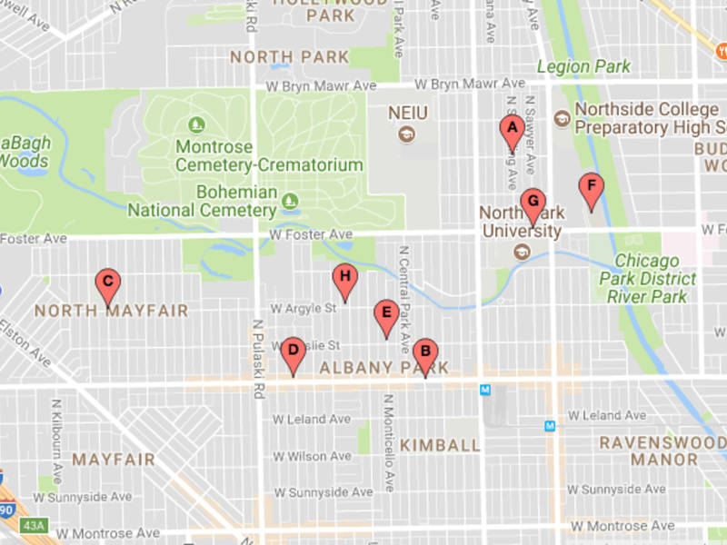 Latest Map Of Albany Park North Mayfair Car Thefts Lincoln Square