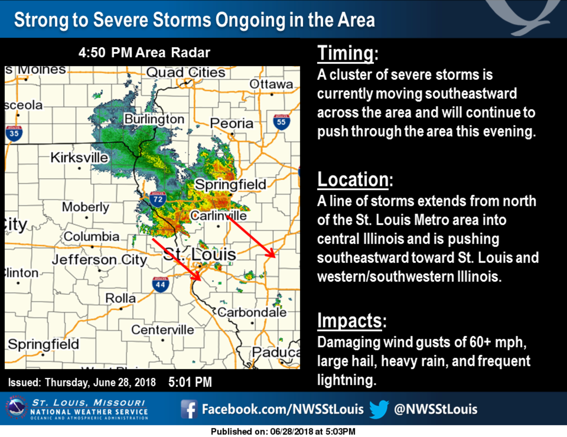 Severe Thunderstorm Warning Issued For St  Louis | St  Louis