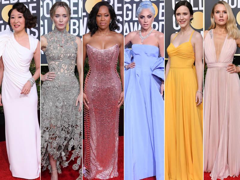 Golden Globes Red Carpet 2019 See Celebrity Arrivals Photos