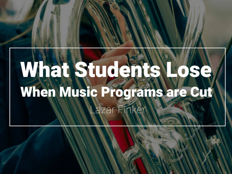 why music programs should be cut