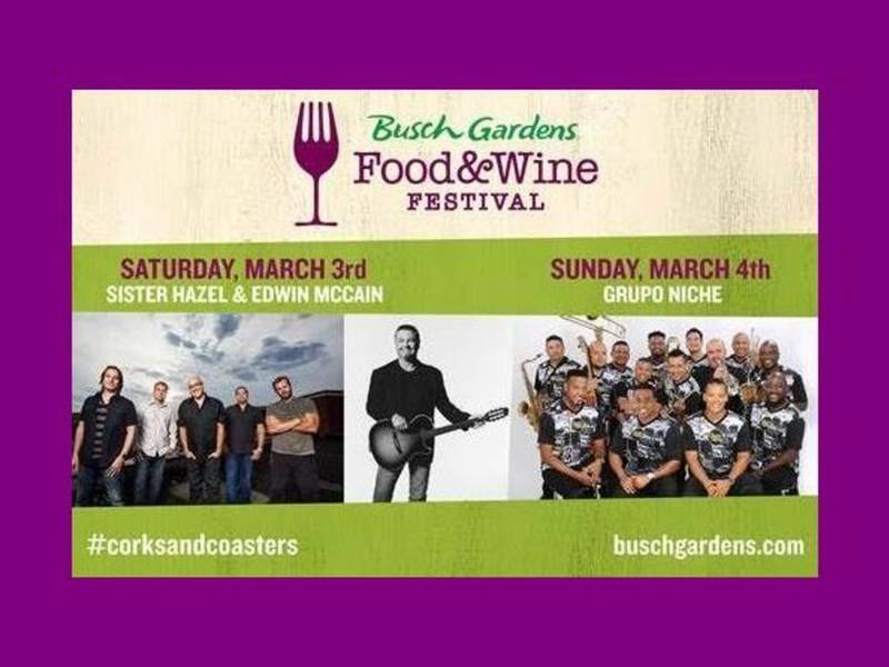 Food, Wine, Top Entertainment On Tap At Busch Gardens | New Tampa ...