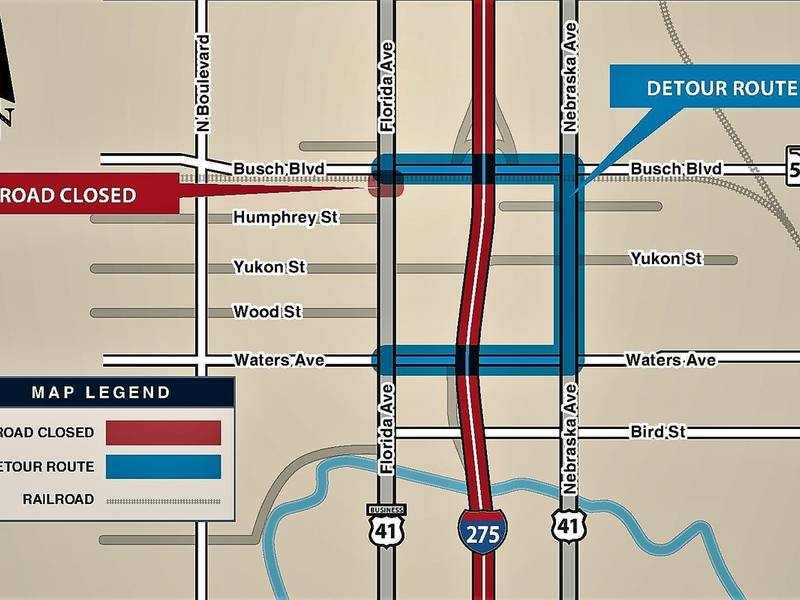 Florida Avenue Closing For Csx Railroad Crossing Work Seminole