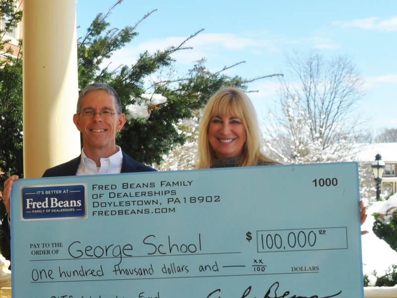 Fred Beans Doylestown >> Fred Beans Donates to George School | Newtown, PA Patch