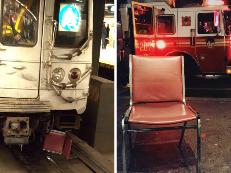 The Chair That Broke The Subway