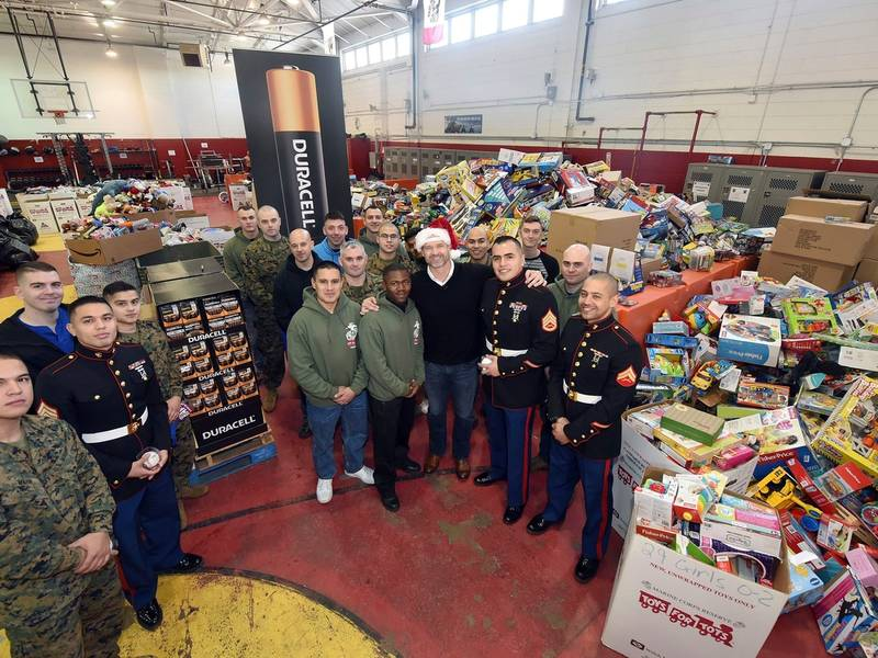 Dearborn Collecting Toys For Tots Donations