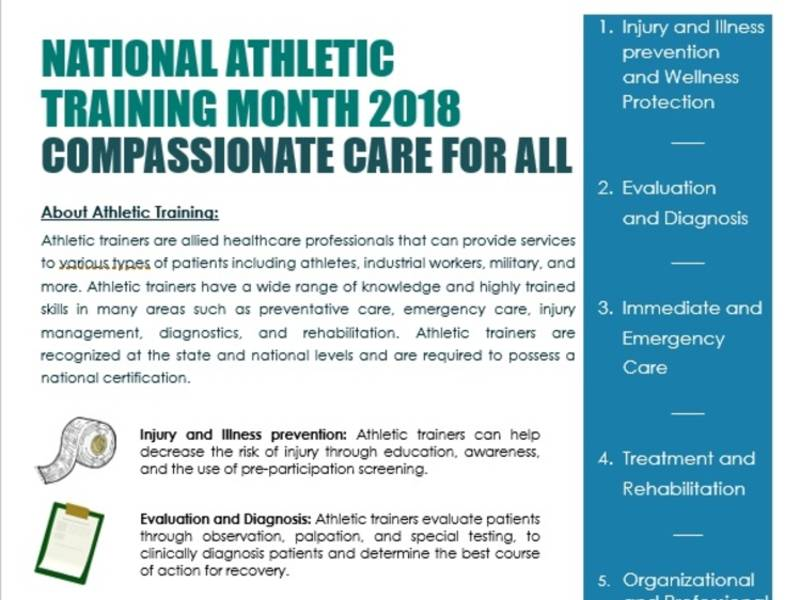 March Is National Athletic Training Month Greenfield Wi Patch