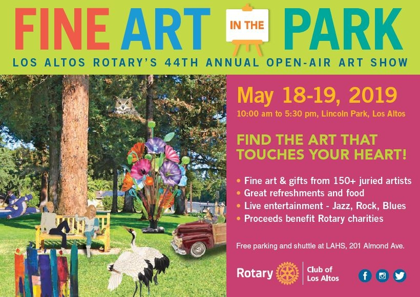 Los Altos Rotary Fine Art in the Park - this weekend! May 18-19