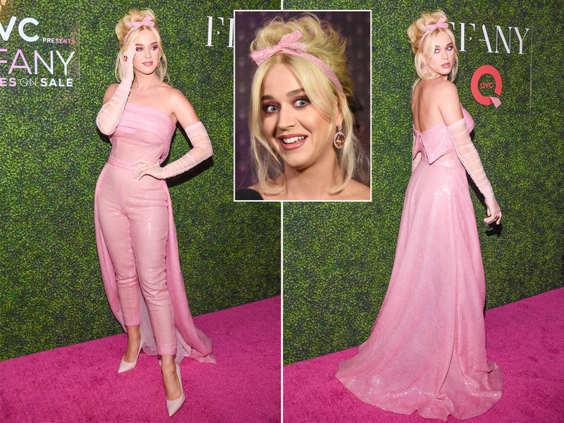 Katy Perry Goes Barbie Pink, Debuts New Shoe Line At QVC x FFANY