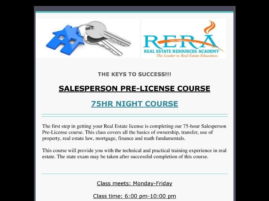 Jun 3   Get your Real Estate License   Alpharetta-Milton, GA