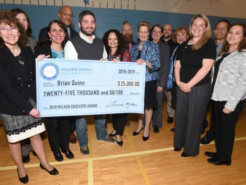 teacher with greatest job wins 25k education award silver