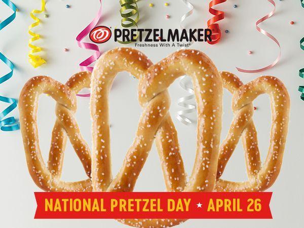 celebrate pretzelmakers birthday pretzels national pretzel april