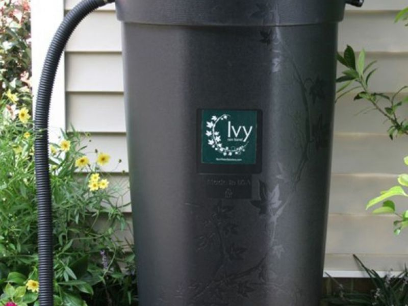 rain barrels and compost bins available through county agencies0