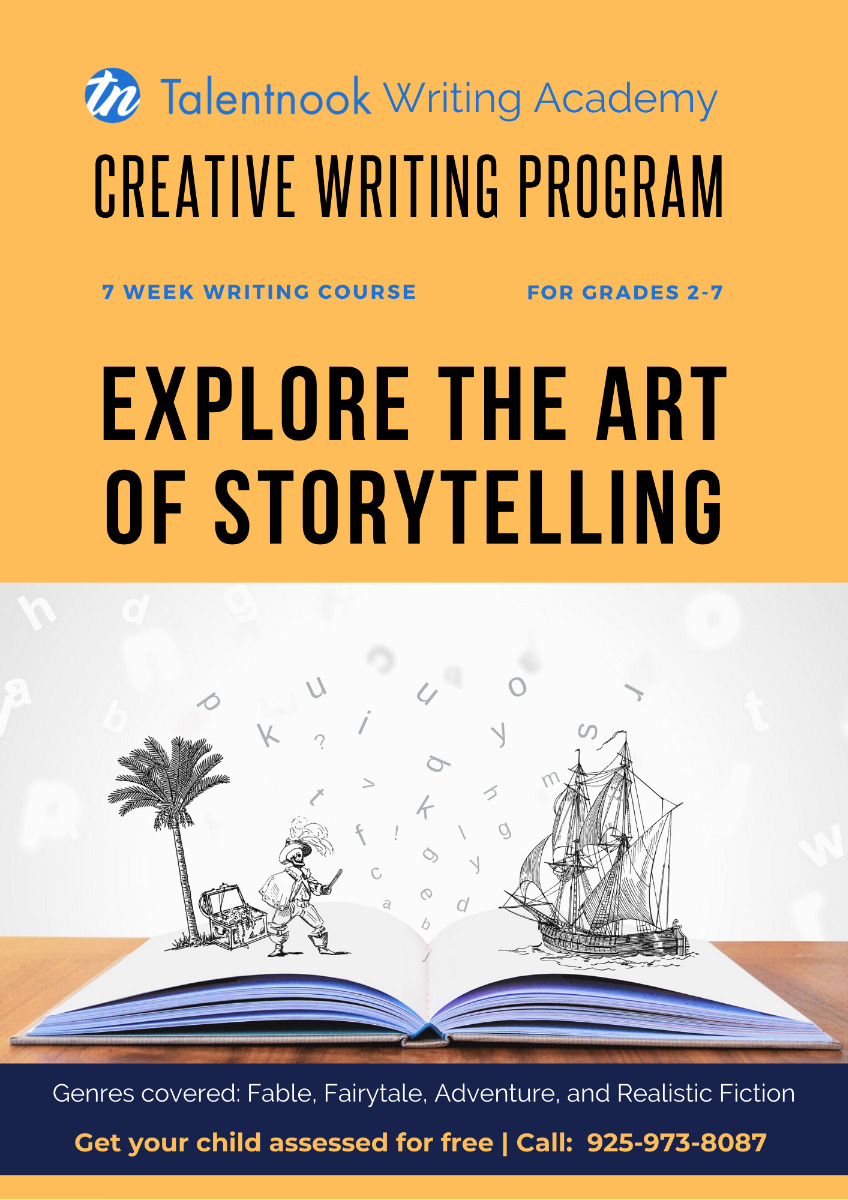 7-week Creative Writing Course for Grade 2-7 starting Jan. 24