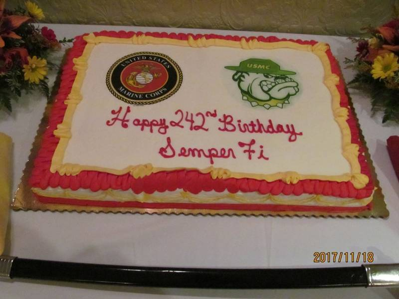 The 242nd Birthday Of The Marine Corps Is Celebrated Marple