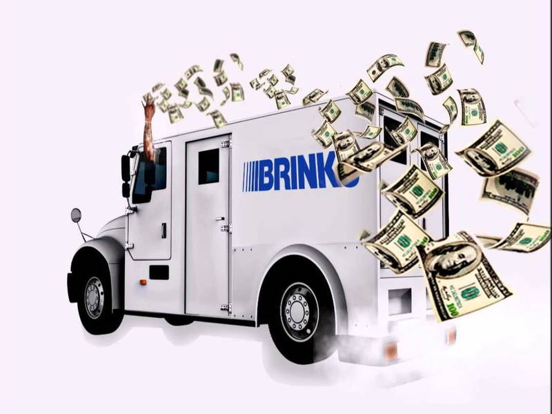 Brinks Truck Dumps Hun...