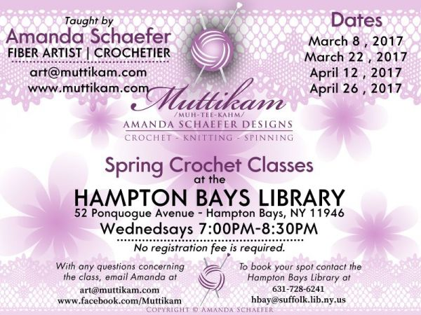 Crocheting Classes Nyc : Hamptons Crochet Classes Spring 2017 * with fiber artist / crochetier ...