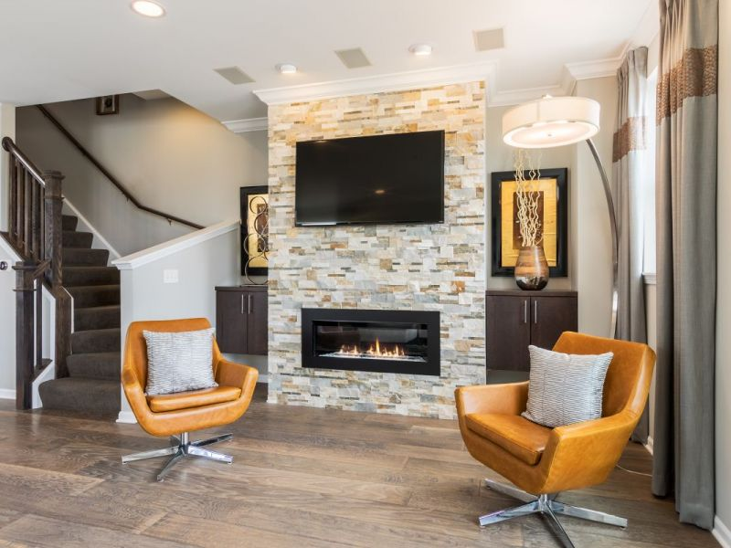 Cozy up to fireplaces this winter new construction homes for New construction fireplace