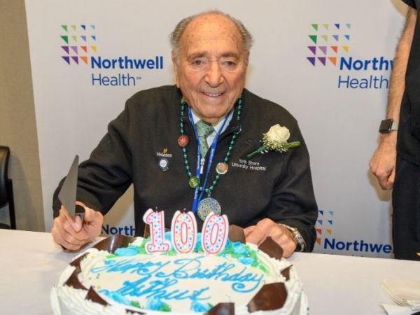 Northwell Health Celebrates Longtime Volunteer's 100th Birthday in