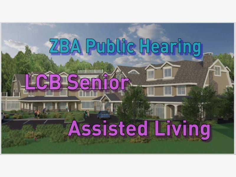 ZBA Will Hold A LCB Senior Living Public Hearing On 5 23