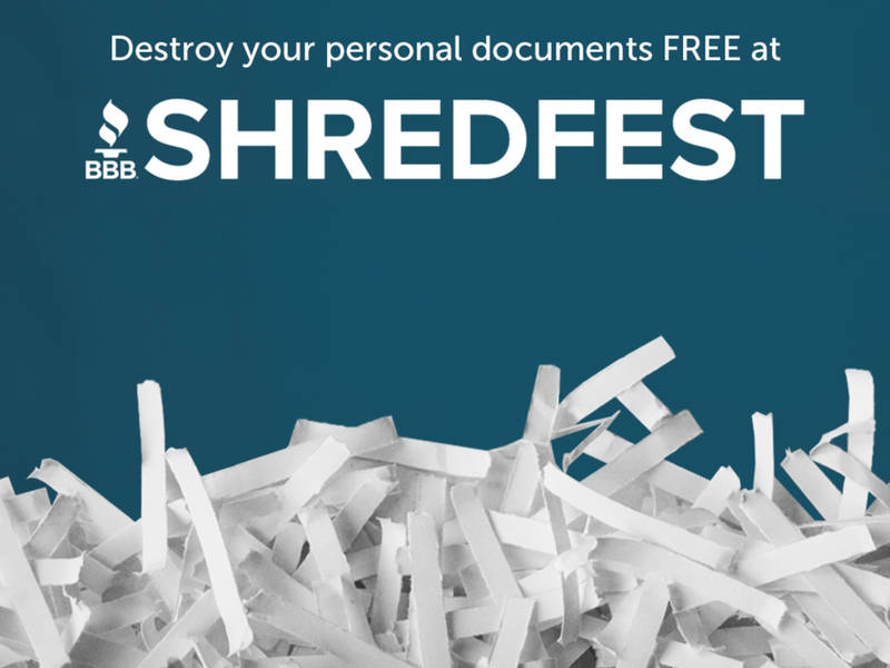 bbb: free bi-annual shredding event being held to help fight