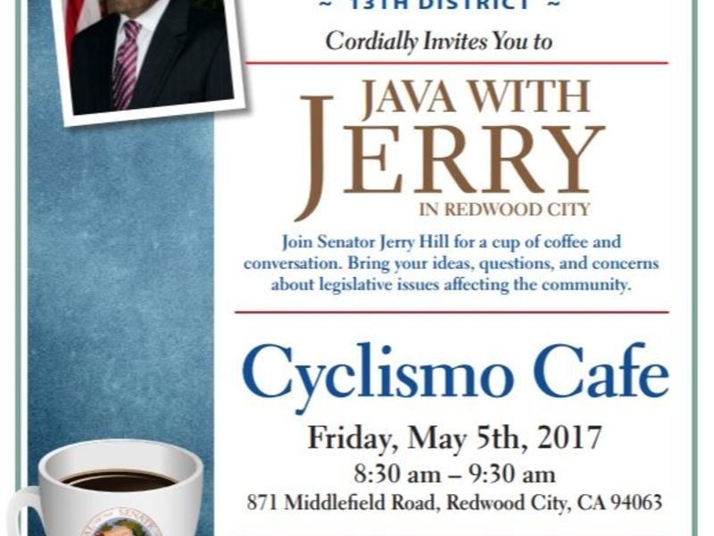 Senator Hill Hosts 'Java With Jerry' in Redwood City ...