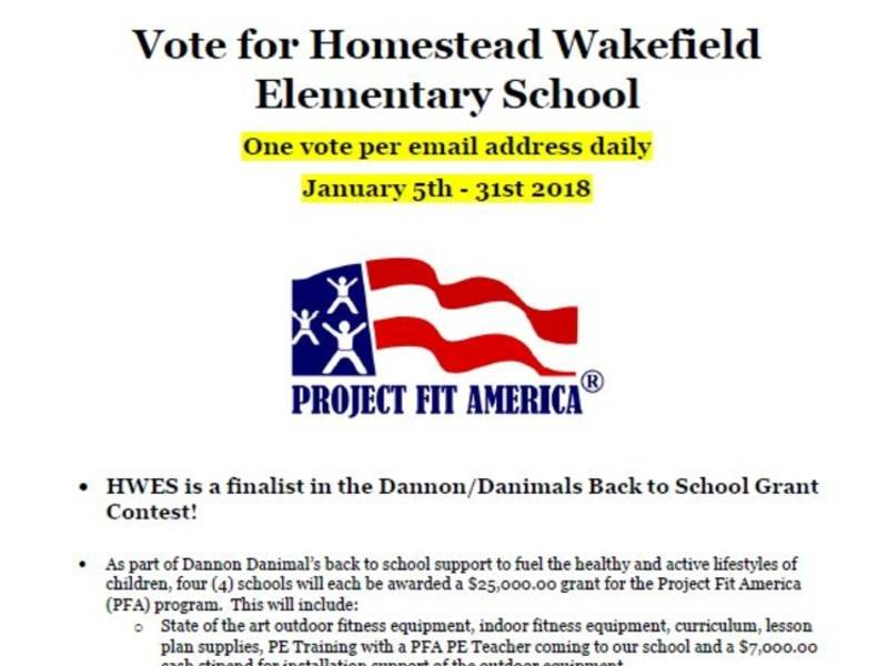 Homestead Wakefield Elementary Is A Contest Finalist Help Us Win