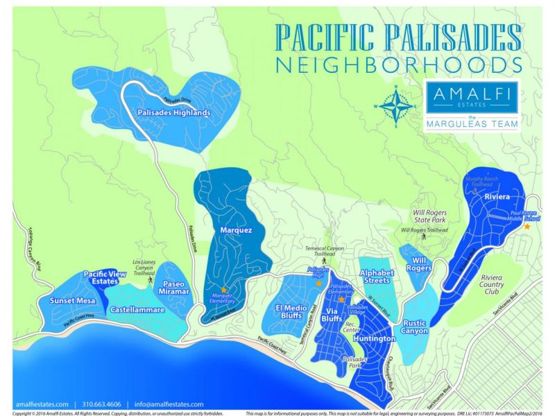 Palisades Color Coded Map Pacific Palisades Ca Patch