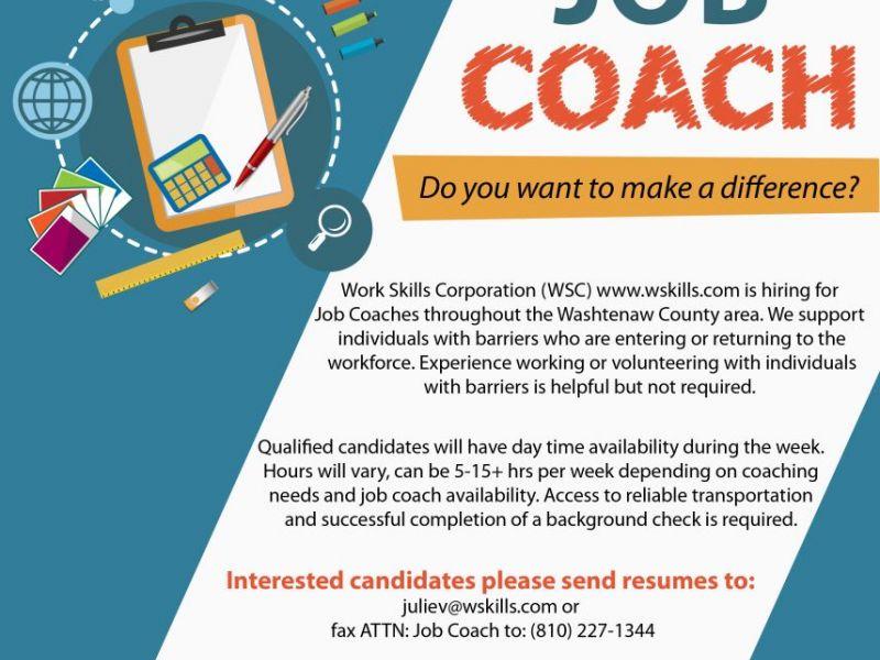 Job Coaches Needed | Dexter, MI Patch