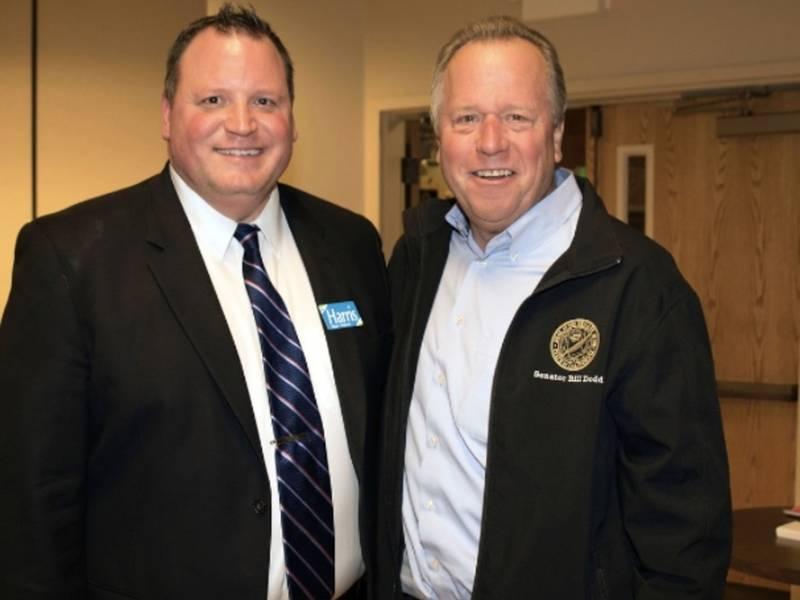 state senator bill dodd endorses mike harris for mayor