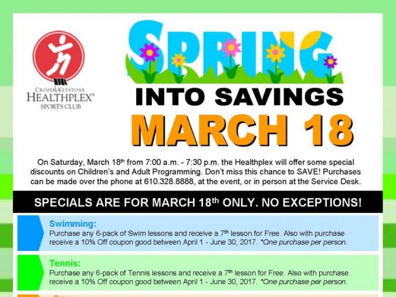 You Re Invited To The Healthplex Spring Savings Event March 18 Springfield Pa Patch