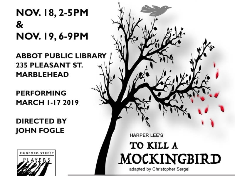 Audition For Mugford Street Players To Kill A Mockingbird