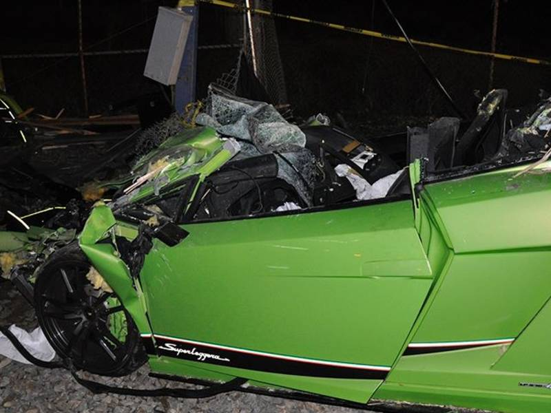 240k Lamborghini Totaled In Costa Mesa Dui Crash Newport Beach